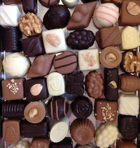 ambachtelijke bonbons van Chocolaterie Stam